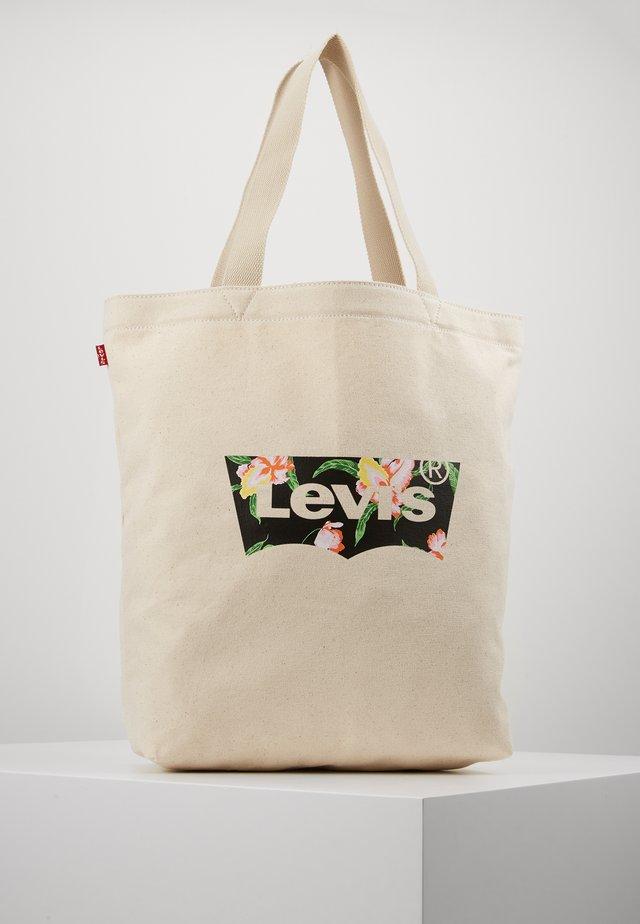 FLORAL BATWING TOTE - Shopping bag - ecru