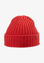 RIBBED BEANIE - Lue - brilliant red