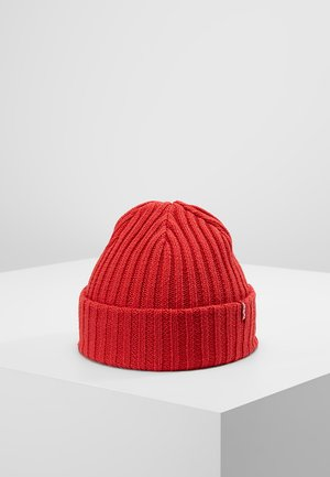 RIBBED BEANIE - Czapka - brilliant red