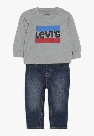 TEE PANT SET - Slim fit jeans - grey heather