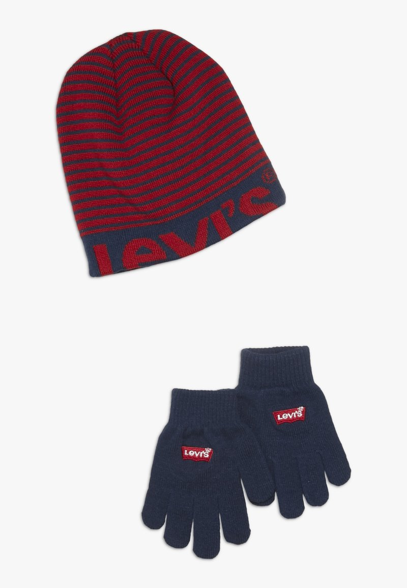 Levi's® - BEANIE GLOVE SET - Handschoenen - chili pepper
