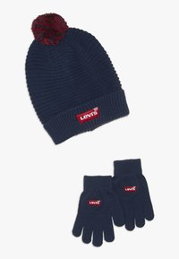 Levi's® - BATWING BEANIE GLOVE SET - Fingervantar - dress blues - 0