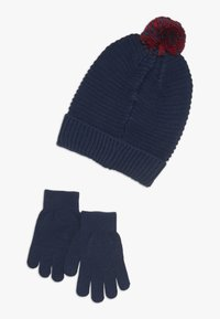 Levi's® - BATWING BEANIE GLOVE SET - Fingervantar - dress blues - 1