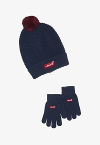 Levi's® - BATWING BEANIE GLOVE SET - Fingervantar - dress blues - 3