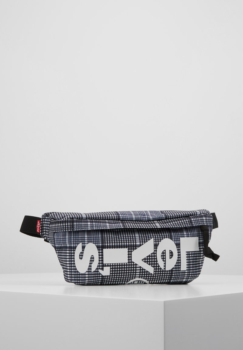 Levi's® - BANANA SLING PLAID - Bum bag - grey/dark green