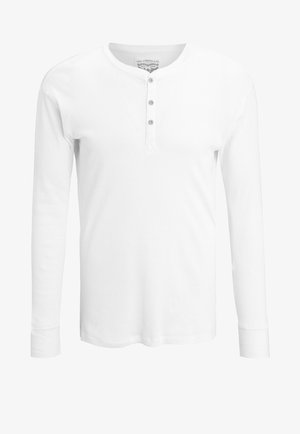LEVIS 300LS LONG SLEEVE HENLEY - Pyžamový top - white