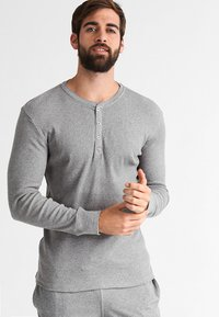 Levi's® - LEVIS 300LS LONG SLEEVE HENLEY - Koszulka do spania - middle grey melange - 0