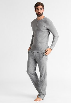 LEVIS 300LS LONG SLEEVE HENLEY - Pyjamasöverdel - middle grey melange