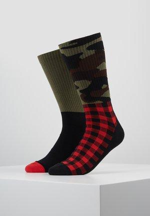 LEVIS 168SF REGULAR CUT 2PACK - Chaussettes - black/ red/ khaki