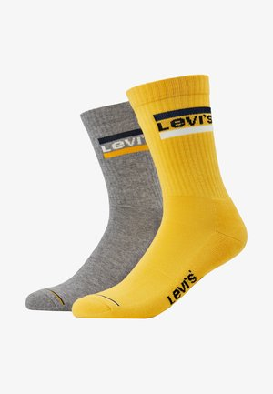 REGULAR CUT LOGO 2 PACK - Chaussettes - yellow
