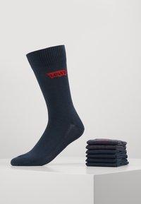 Levi's® - REGULAR CUT 6 PACK - Socks - dark denim - 0