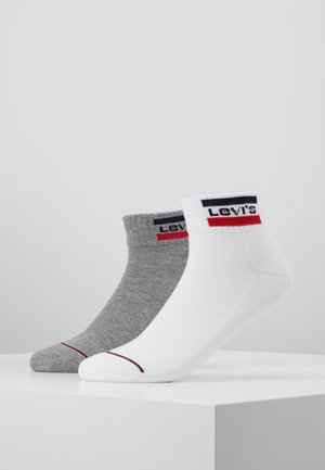 LEVIS 144NDL MID CUT SPRTWR LOGO 2P - Socks - white/grey