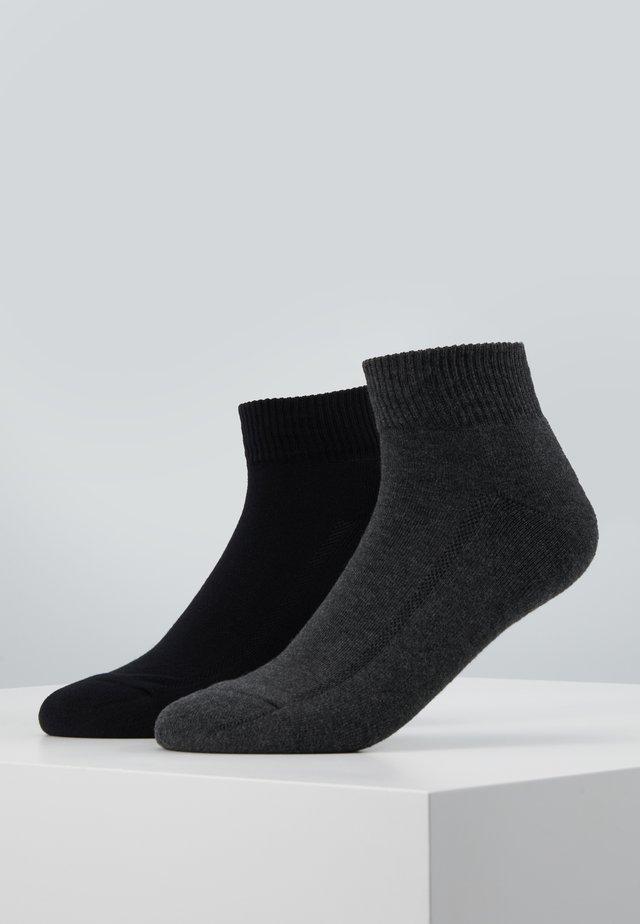 CUSHIONED MID CUT 2PACK - Ponožky - anthracite melange/black