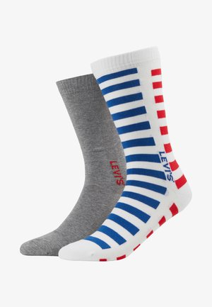 MEN REGULAR CUT SPLICED STRIPE - Chaussettes - white/blue/red