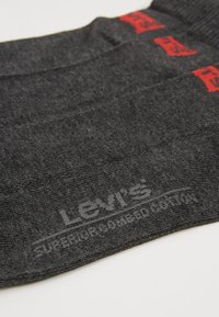 Levi's® - LEVIS 168SF MID CUT 3 PACK - Socks - anthracite melange/black - 2