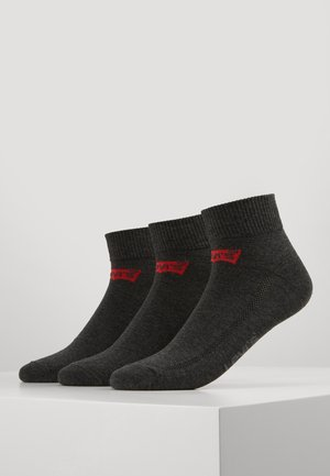 LEVIS 168SF MID CUT 3 PACK - Chaussettes - anthracite melange/black