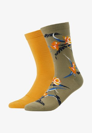 REGULAR CUT TROPICAL 2PACK - Chaussettes - khaki