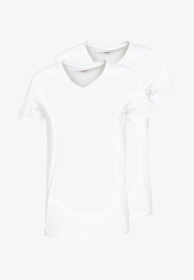 MEN V-NECK 2 PACK - Undertrøye - white