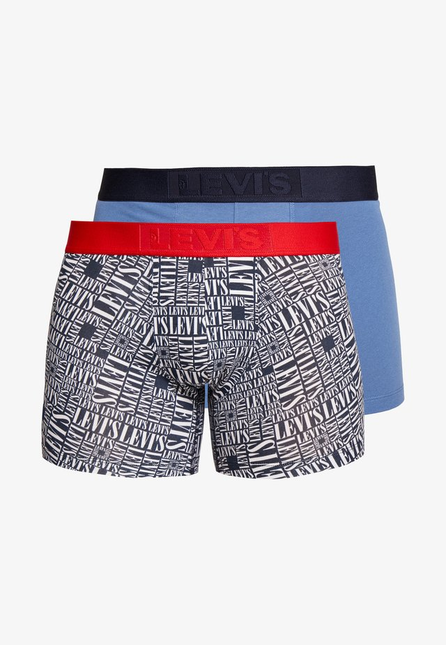 MEN TALL LOGO AOP BOXER BRIEF 2 PACK - Culotte - navy