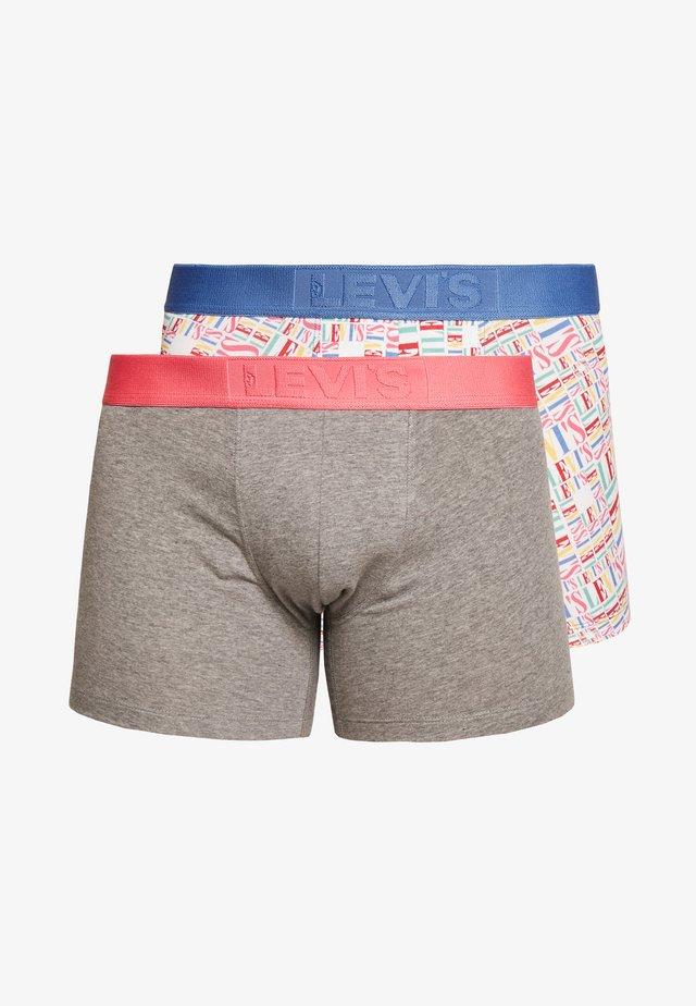 MEN TALL LOGO AOP BOXER BRIEF 2 PACK - Onderbroeken - multi-coloured/grey