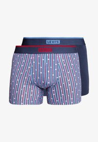 Levi's® - LEVIS MEN LOGO STRIPE BOXER BRIEF 2 PACK - Shorty - riverside blue