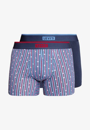 LEVIS MEN LOGO STRIPE BOXER BRIEF 2 PACK - Onderbroeken - riverside blue