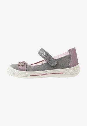 TENSY - Ankle strap ballet pumps - grau