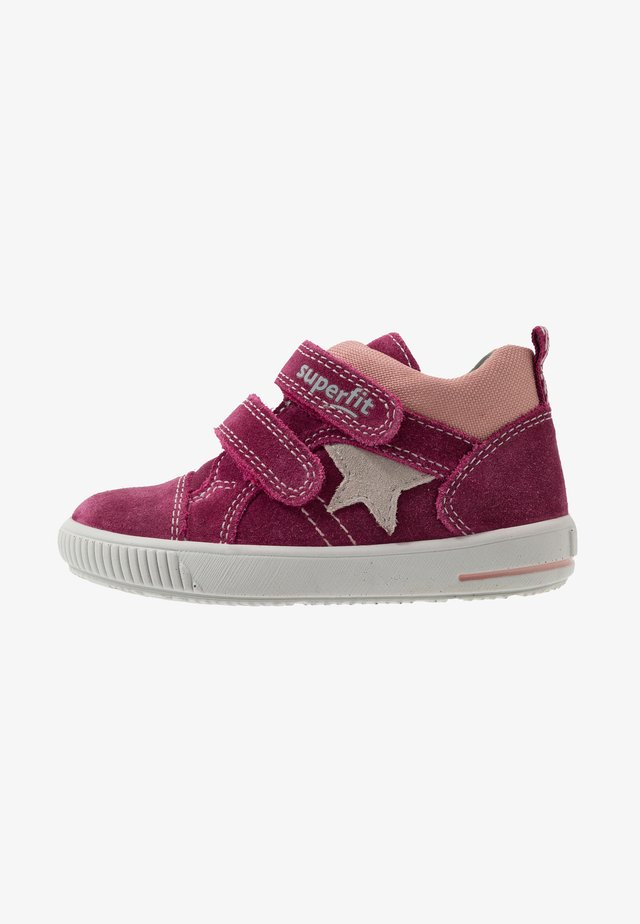 MOPPY - High-top trainers - rot/grau/lila