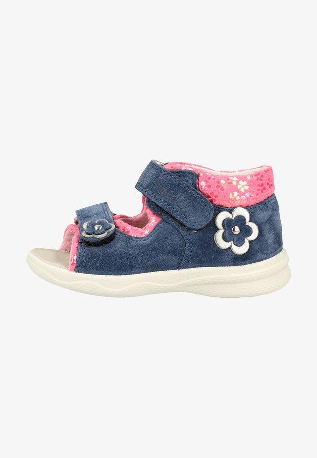 Lær-at-gå-sko - blue/pink