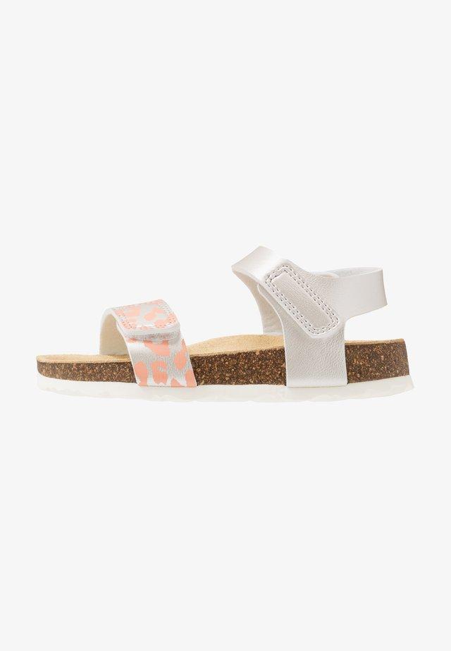 Sandaalit nilkkaremmillä - weiß