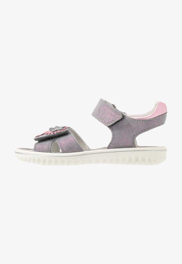 SPARKLE - Sandaalit nilkkaremmillä - grau