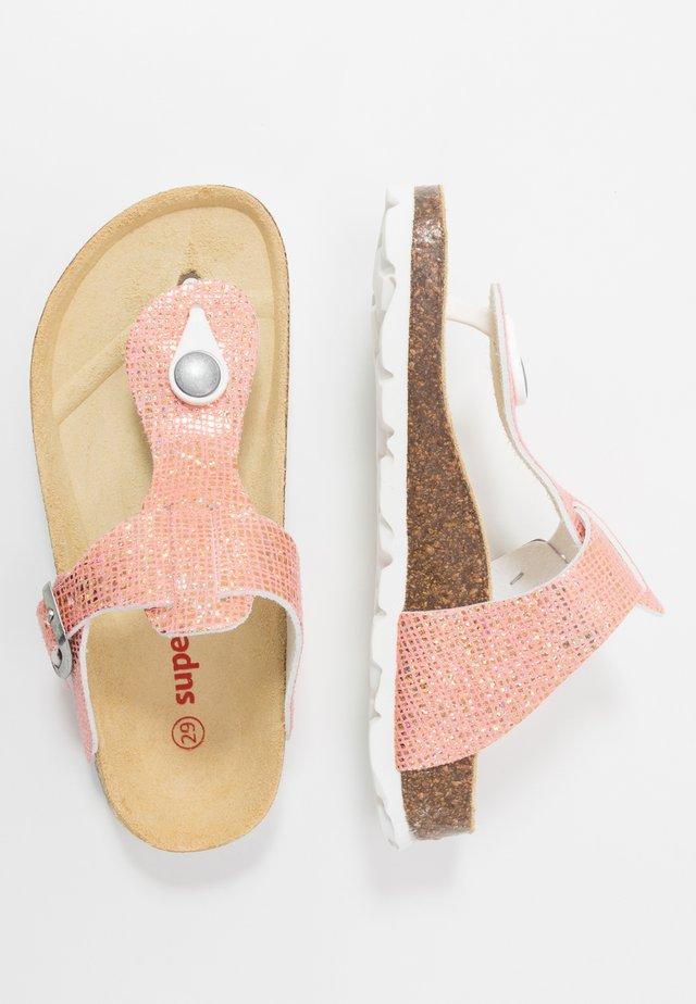 Sandaler m/ tåsplit - rot