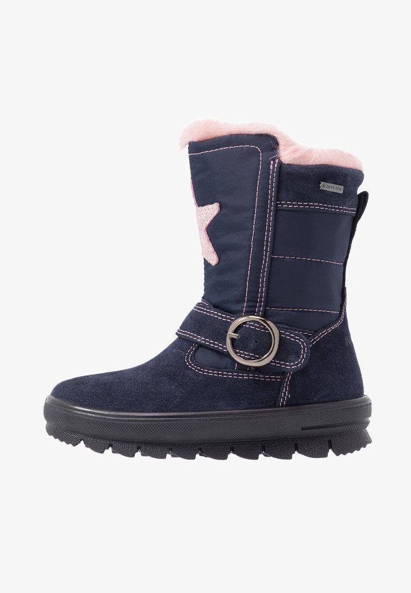 Superfit - FLAVIA - Winter boots - blau/rosa