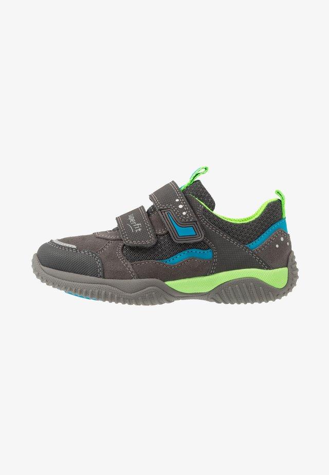 STORM - Touch-strap shoes - grau/grün