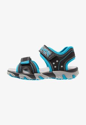MIKE - Sandály - schwarz/blau