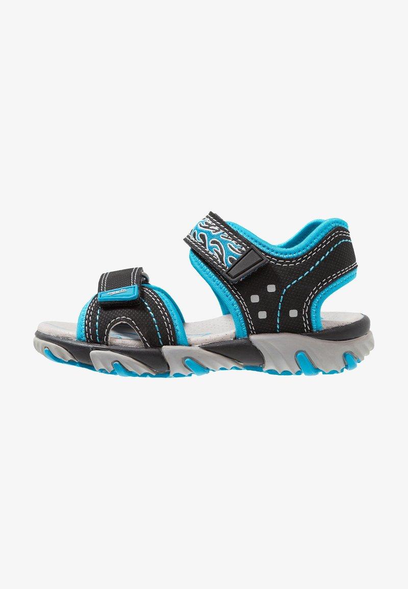 Superfit - MIKE - Sandály - schwarz/blau
