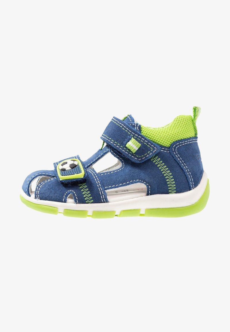 Superfit - FREDDY - Baby shoes - blau/hellgrün