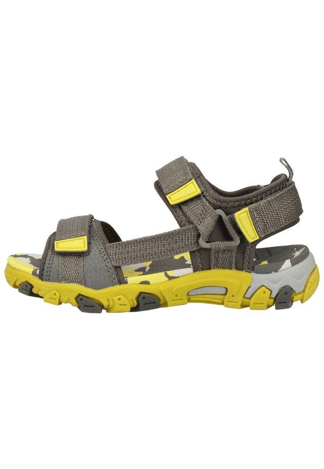 SUPERFIT SANDALEN - Trekkingsandaler - grau/gelb 20