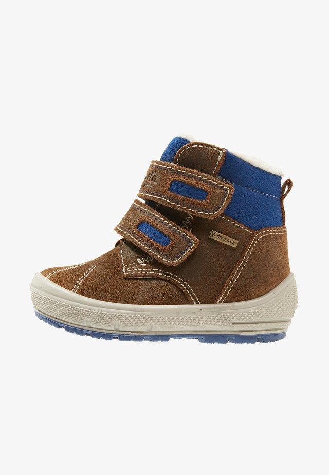 GROOVY - Lær-at-gå-sko - brown/blue