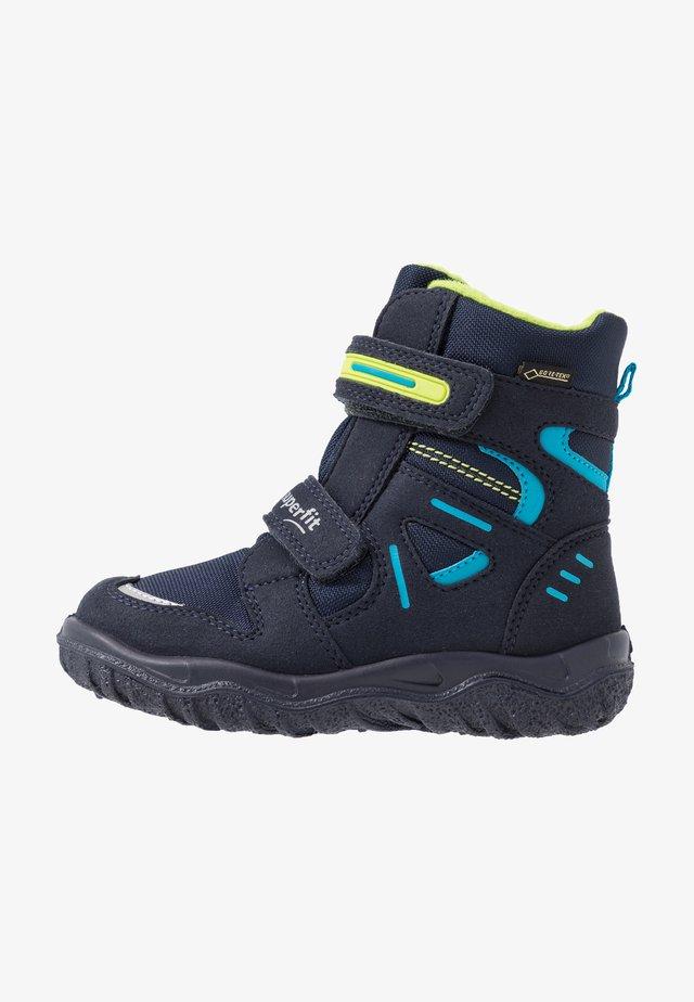 HUSKY - Snowboots  - blau/grün