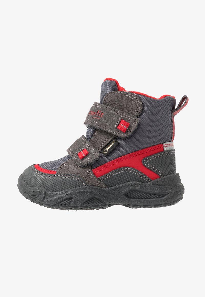 Superfit - GLACIER - Zimní obuv - grau/rot