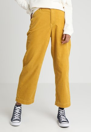 WIDE LEG - Pantalon classique - harvest gold