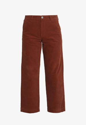 WIDE LEG - Trousers - brown