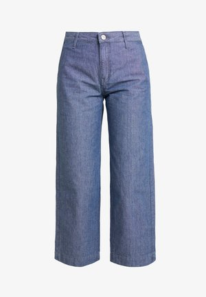 WIDE LEG - Flared jeans - chambray