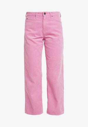 5 POCKET WIDE LEG - Spodnie materiałowe - cameo pink