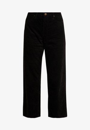 5 POCKET WIDE LEG - Tygbyxor - black