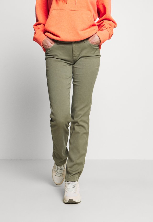 MARION STRAIGHT - Kalhoty - green