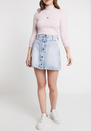 SEASONAL SKIRT - A-line skirt - light-blue denim
