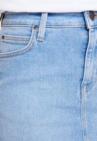Lee - MID SKIRT - A-lijn rok - light blue denim - 3