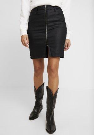HIGH WAIST ZIP SKIRT - Spódnica ołówkowa  - coated leola
